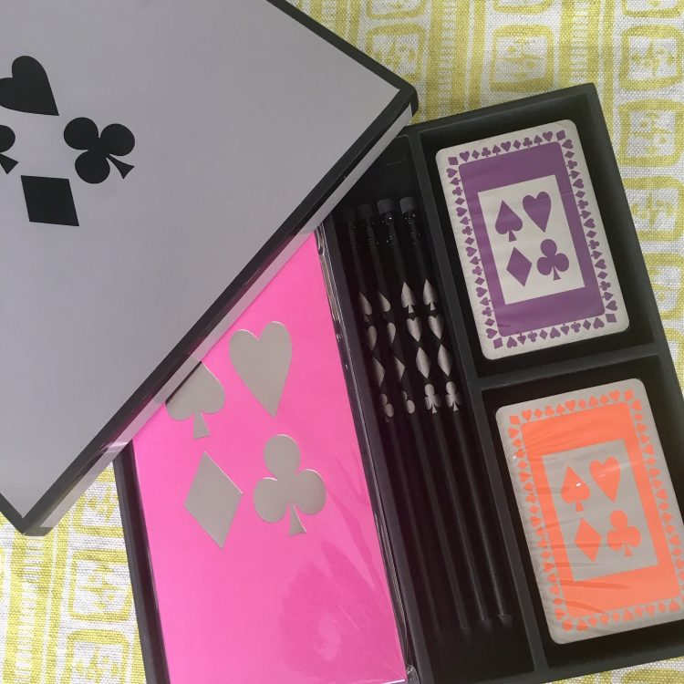 Complete Bridge Card Game set with Orange & Purple Bridge Cards