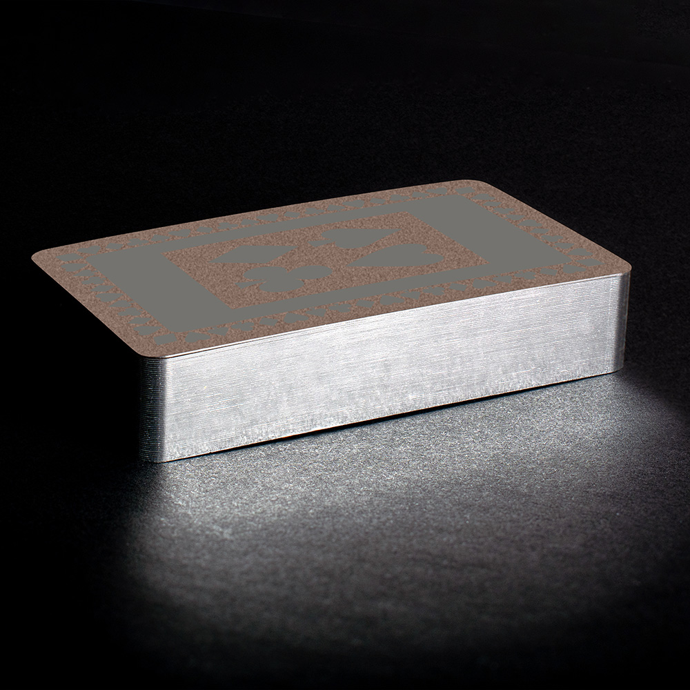 Grey silver gilt playing cards