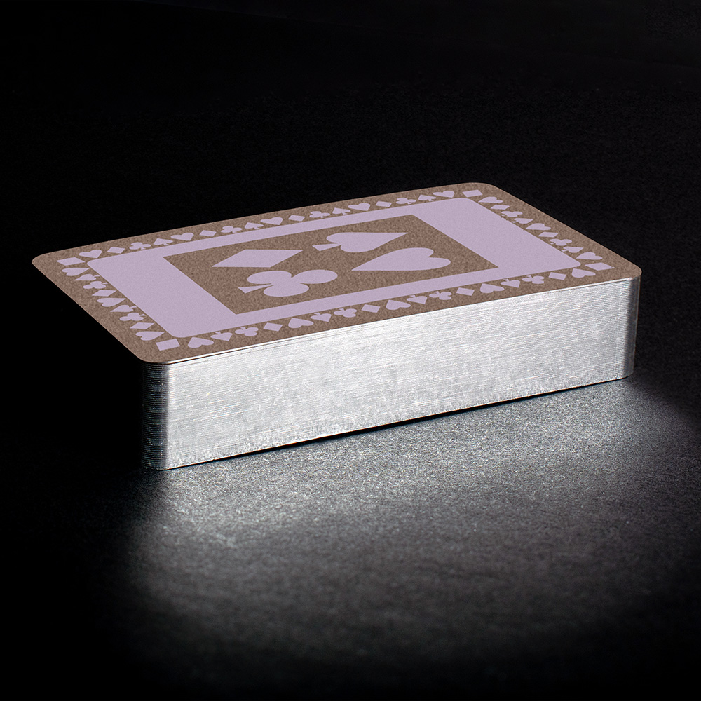 Pale lavender silver gilt playing cards