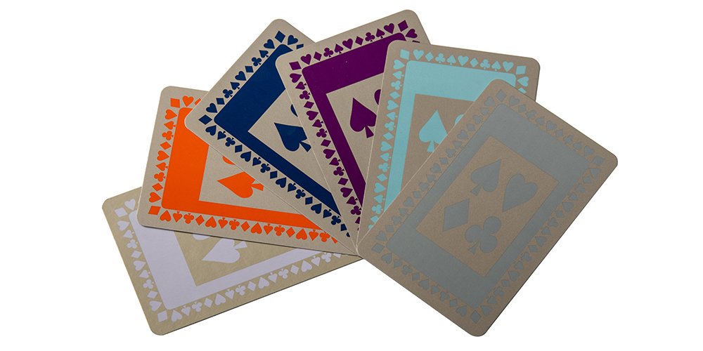 Range of playing card colours available