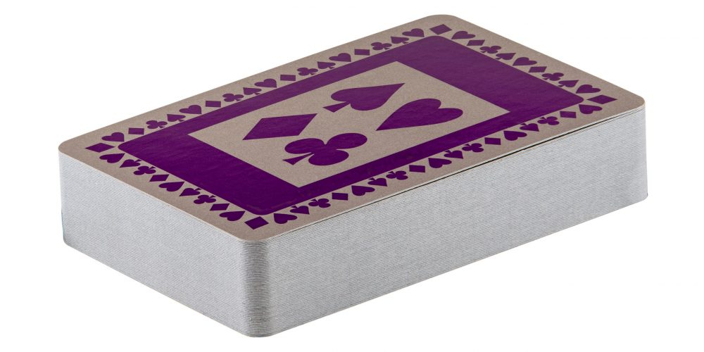 Single pack of purple pattern playing cards