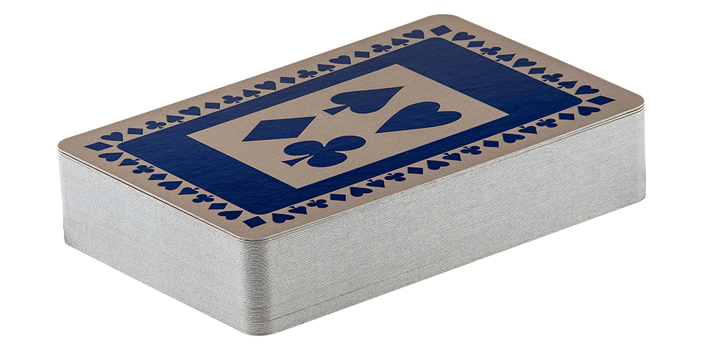 Single pack of navy pattern playing cards
