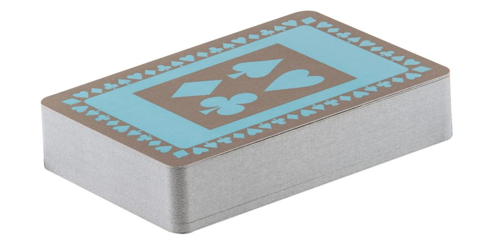 Single pack of duck egg blue pattern playing cards