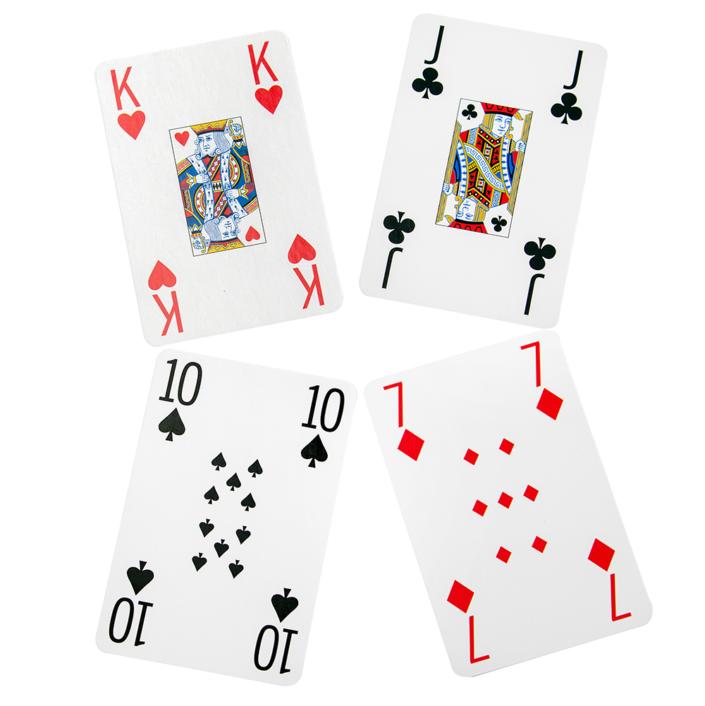 Cartamundi card face design for both regular and silver gilt playing cards